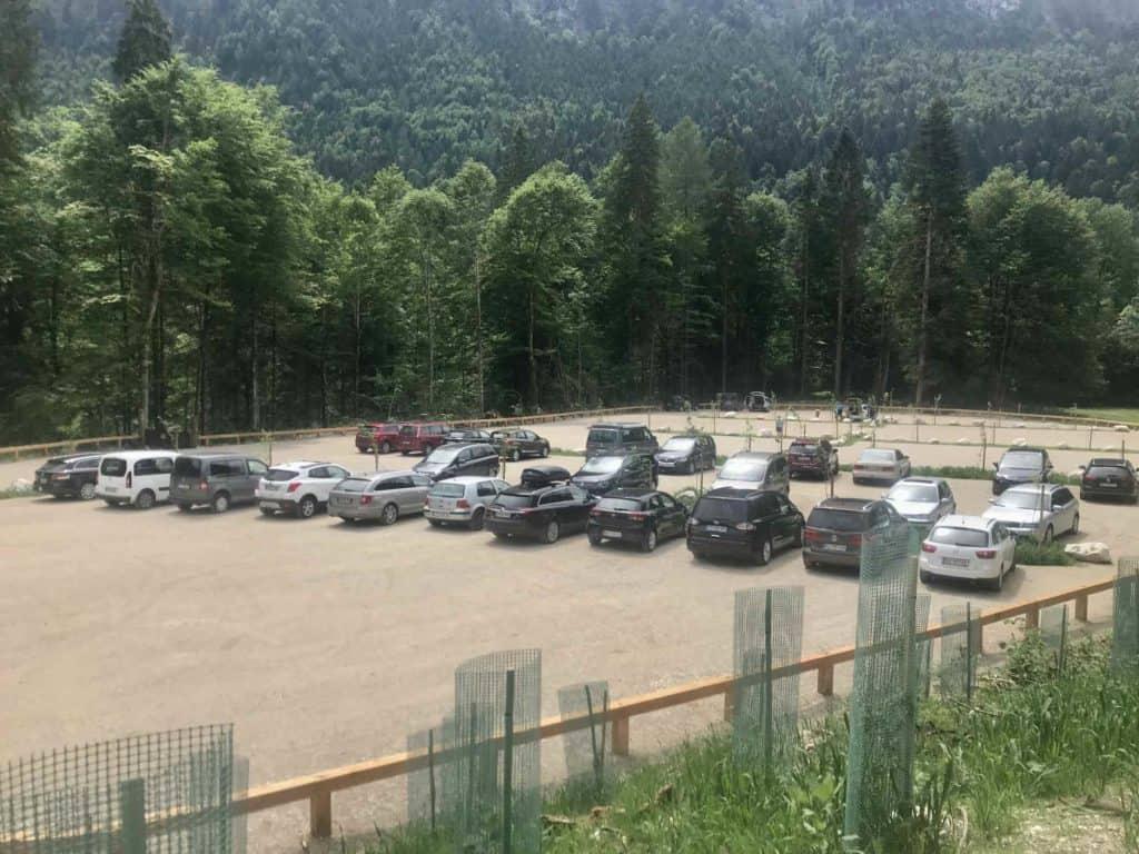 Parkplatz Kaiserklamm - nicht schön und teuer